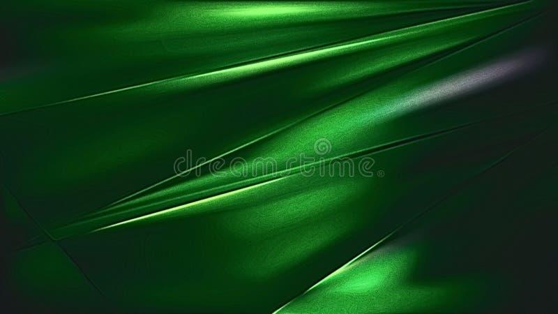 摘要发光的凉快的绿色金属纹理 向量例证