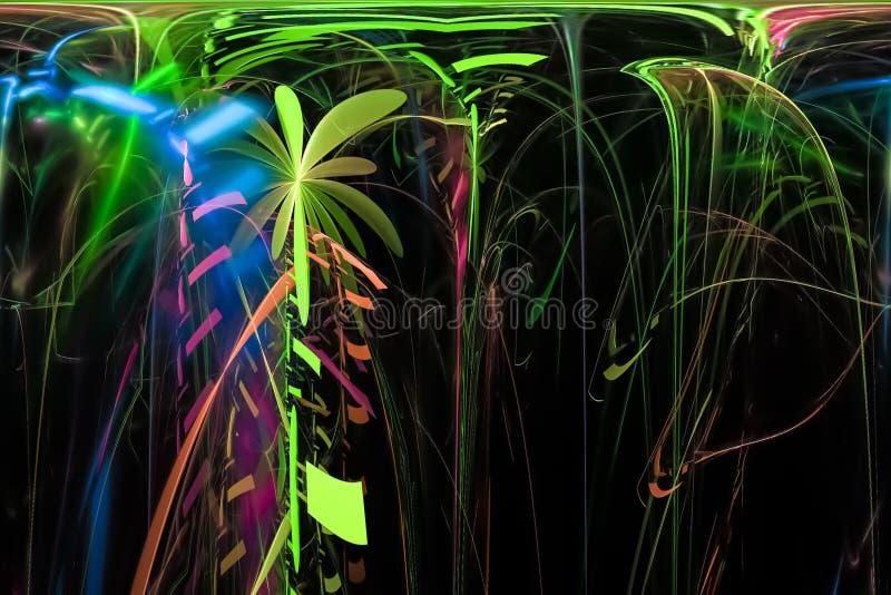 摘要发光的图表分数维未来派元素充满活力的科学意想不到的火焰幻想动态设计样式 皇族释放例证