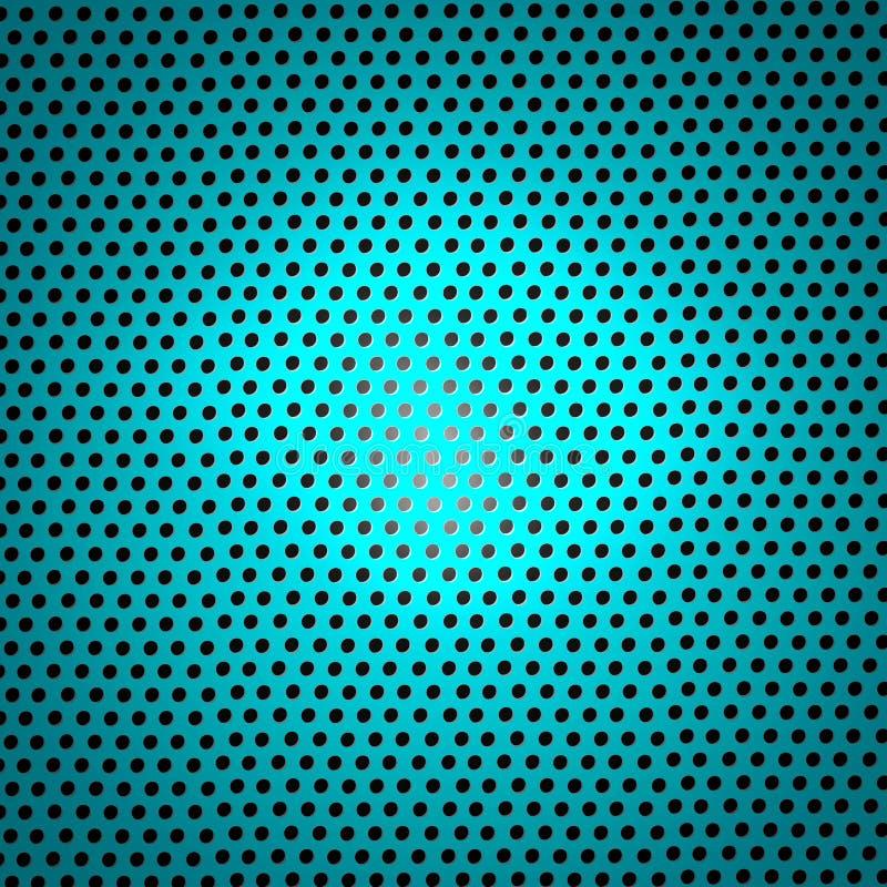 摘要发光的蓝绿色金属滤网纹理背景 皇族释放例证