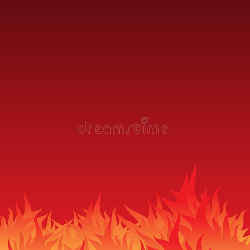 摘要和简单的烧伤发火焰与渐进性颜色的背景 皇族释放例证