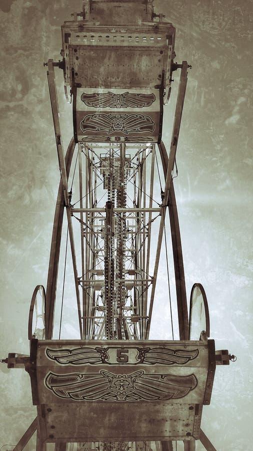 摘要困厄的弗累斯大转轮汽车从后面 免版税库存照片