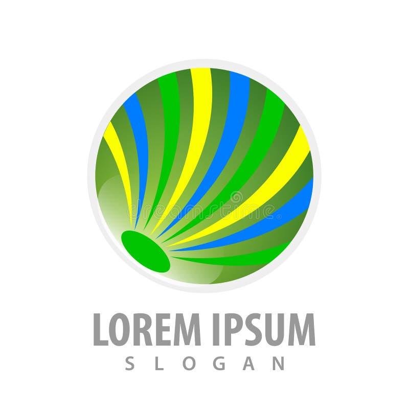 摘要圈子绿色企业构思设计 标志图表模板元素传染媒介 库存例证
