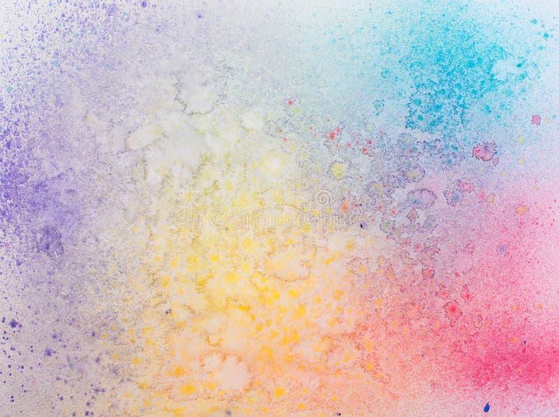 摘要在纸纹理的被绘的水彩背景。 免版税库存照片