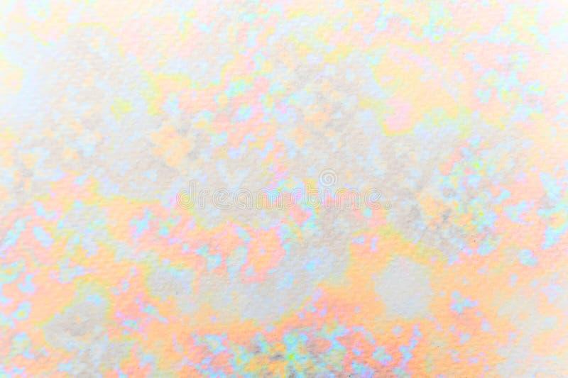 摘要在纸纹理的被绘的水彩背景 免版税库存图片