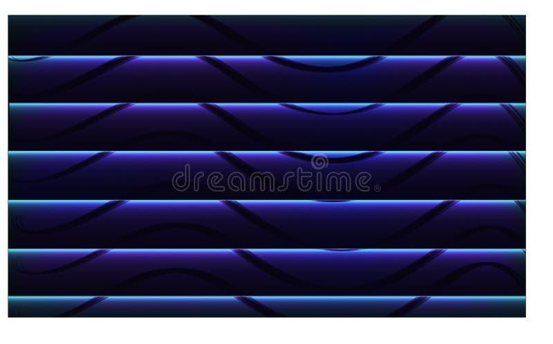 摘要对蓝色,抽象背景和墙纸-传染媒介eps10的波浪黑色 库存例证