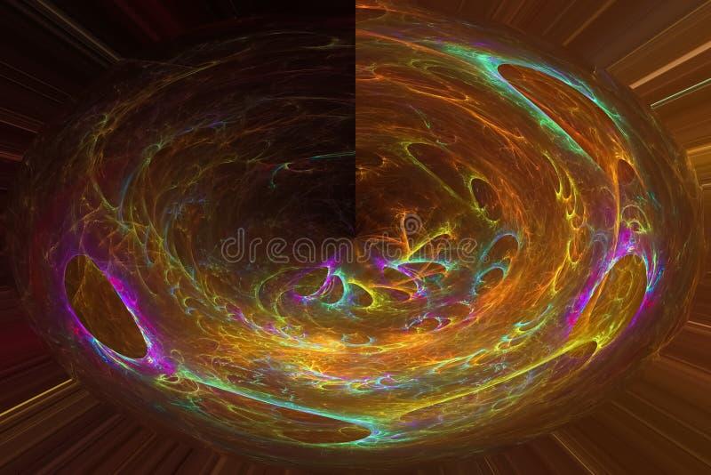 摘要当前创造性的发光的混乱波浪动力学,设计魔术动力学 库存例证