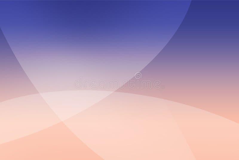 摘要抽象软的色的桃红色,紫色,蓝色和深蓝背景与曲线的挥动线覆盖物 图库摄影
