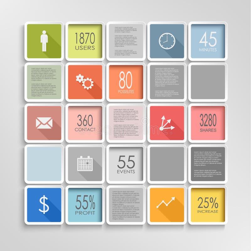 摘要摆正五颜六色的信息图表模板 向量例证