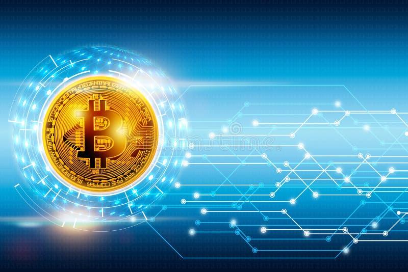 摘要数字全球网络连接和bitcoin 库存例证