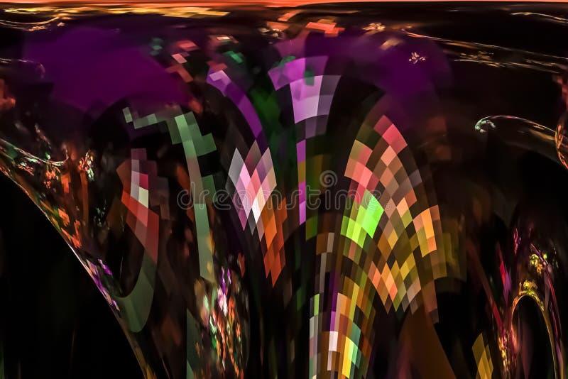 摘要数字意想不到的明亮的行动充满活力的艺术性的作用火焰曲线动态分数维幻想设计背景曲线 向量例证
