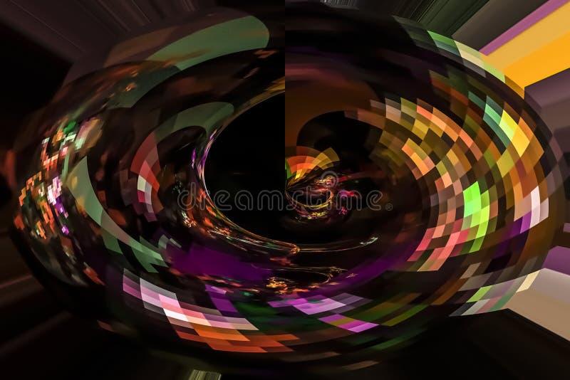 摘要数字意想不到的艺术性的动态分数维幻想设计背景曲线 向量例证