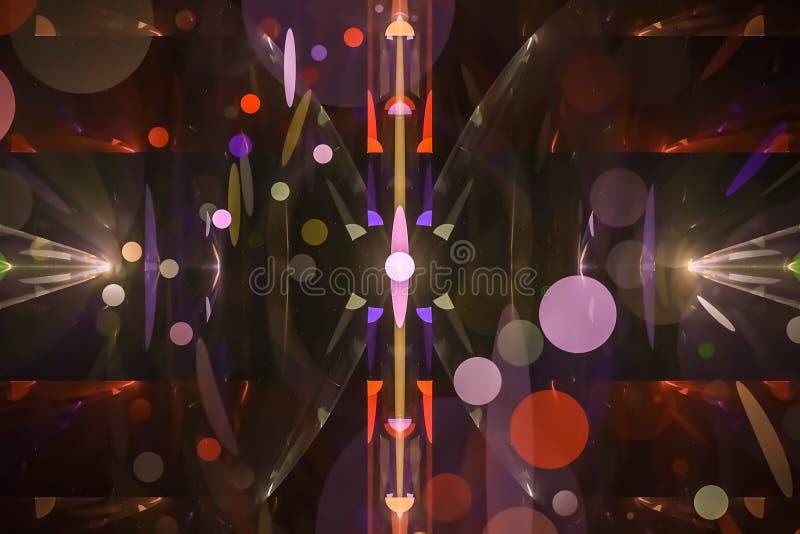 摘要数字意想不到的艺术性的火焰曲线动态分数维幻想设计背景曲线 库存例证