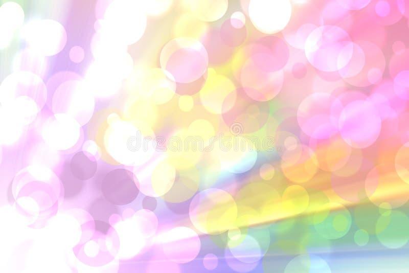 摘要新生动的五颜六色的幻想彩虹背景纹理 库存例证