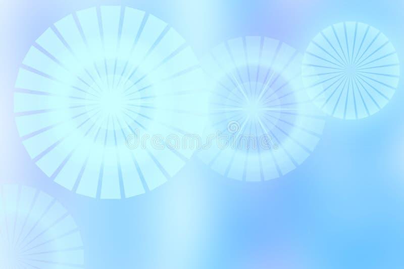 摘要新生动的蓝色淡色幻想彩虹背景文本 向量例证
