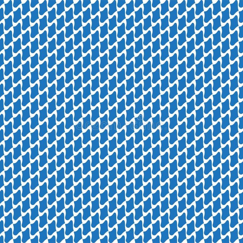 摘要无缝的几何曲线样式 库存例证