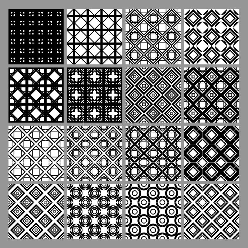 摘要无缝的几何样式背景集合eps10 库存图片