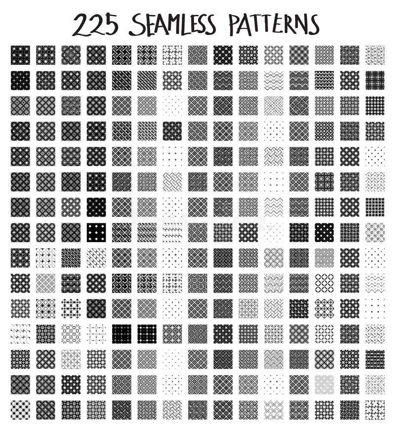 摘要无缝的几何样式背景集合eps10 免版税库存照片