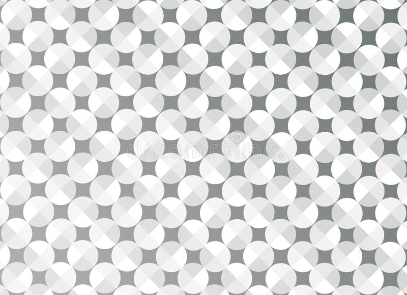 摘要无缝的发光的圈子在灰色背景中 向量例证