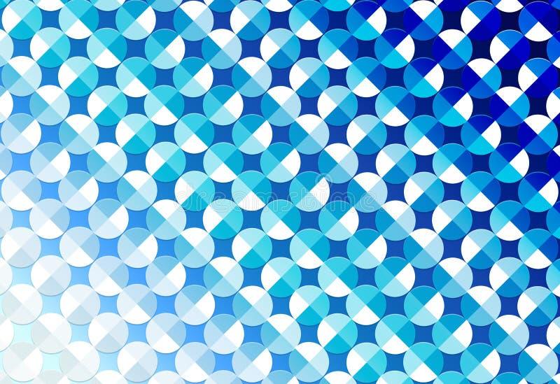摘要无缝的发光的圈子在蓝色背景中 库存例证