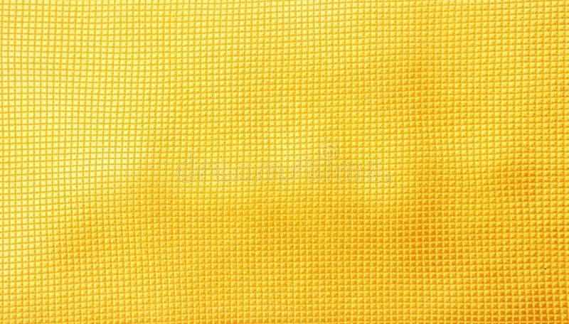 摘要无缝的黄色织品纹理背景 库存图片