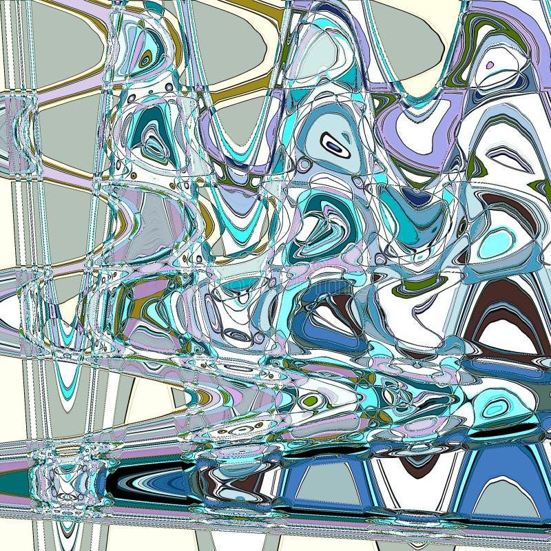 摘要曲折前行与水作用的横幅或卡片背景 向量例证