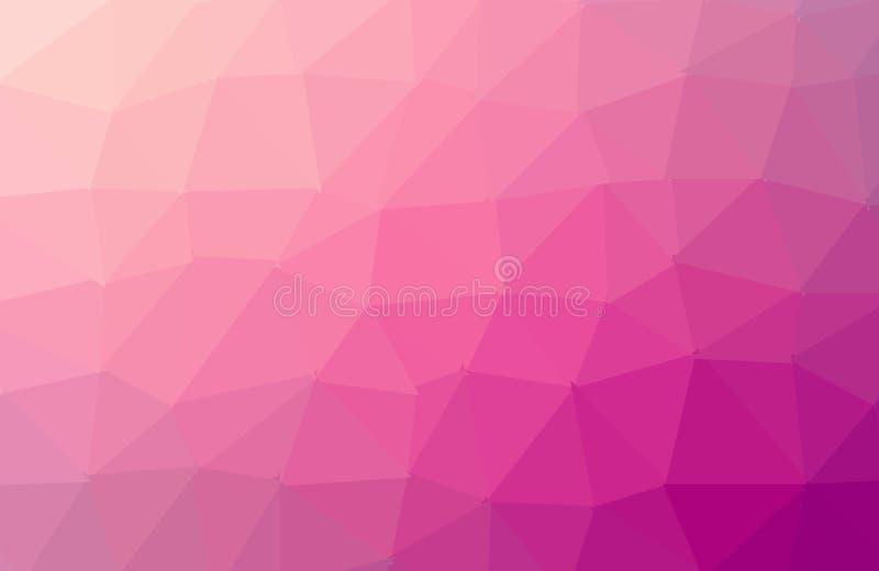 摘要桃红色多角形马赛克背景 r 多色低多梯度背景 多角形的水晶 向量例证