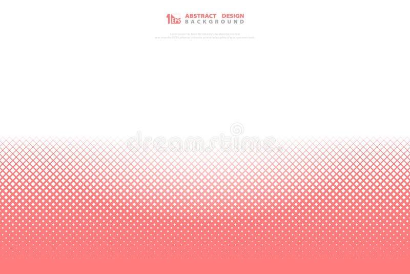 摘要桃红色生存珊瑚颜色正方形几何样式背景 r 库存例证