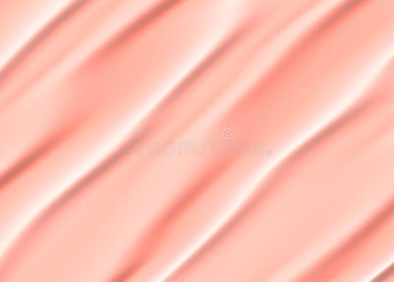 摘要桃红色米黄波浪背景 库存例证