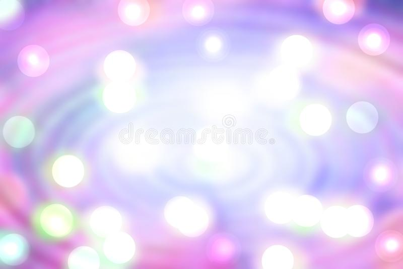 摘要桃红色辐形背景 与白色bokeh圆光的五颜六色的不可思议的辐形构成 色的美丽淡色 皇族释放例证