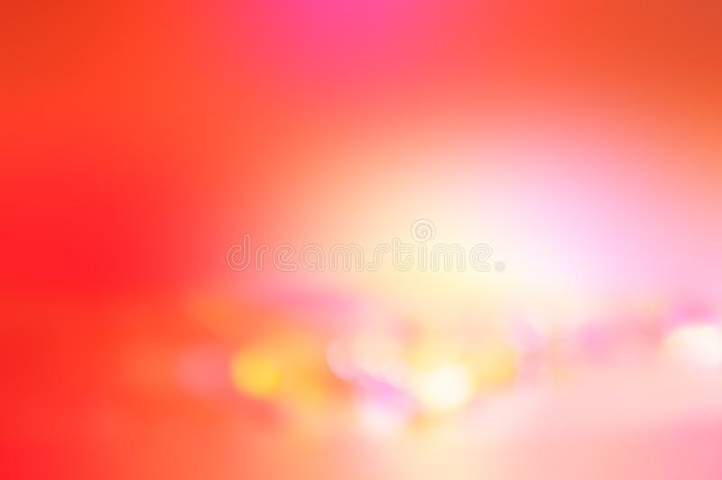 摘要梯度珊瑚和橙色背景 模糊的墙纸 免版税库存图片