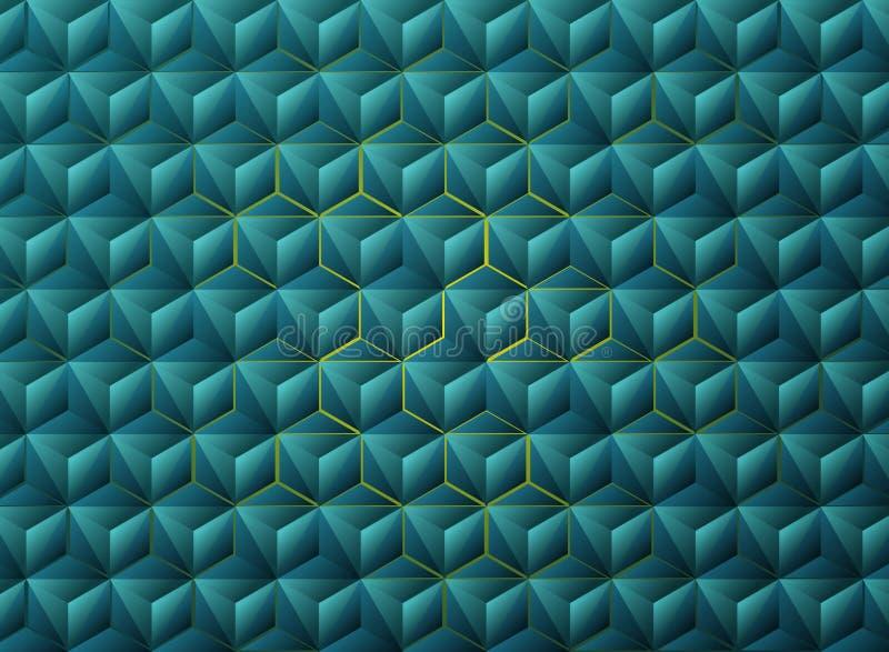 摘要梯度蓝色三角几何技术设计 r 向量例证