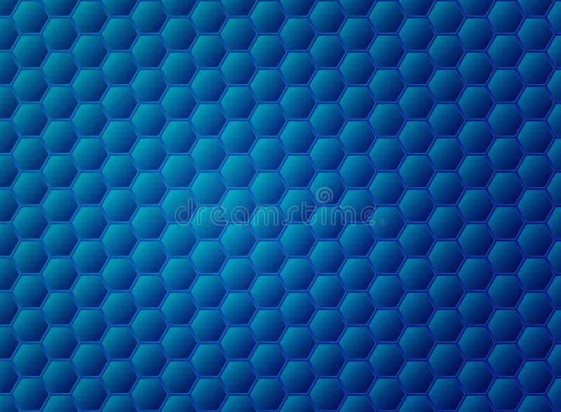 摘要梯度蓝色六角形样式设计 r 皇族释放例证