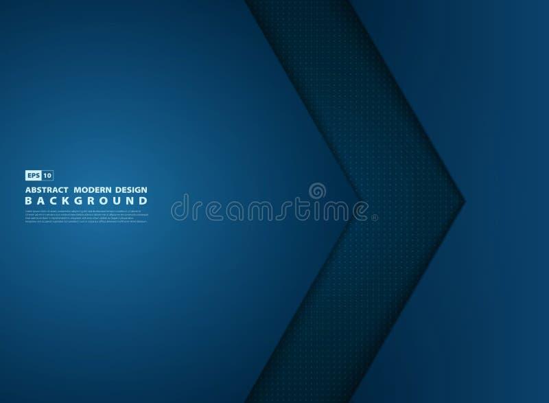 摘要梯度蓝色模板交叠现代设计盖子 r 向量例证