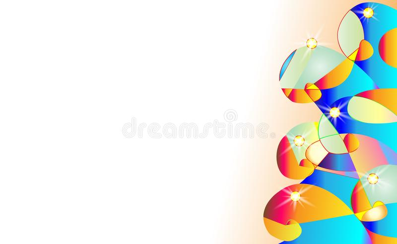 摘要模仿背景 与热带长尾小鹦鹉ara的美好的传染媒介夏天,木槿 为装饰墙纸,网页完善, 库存例证