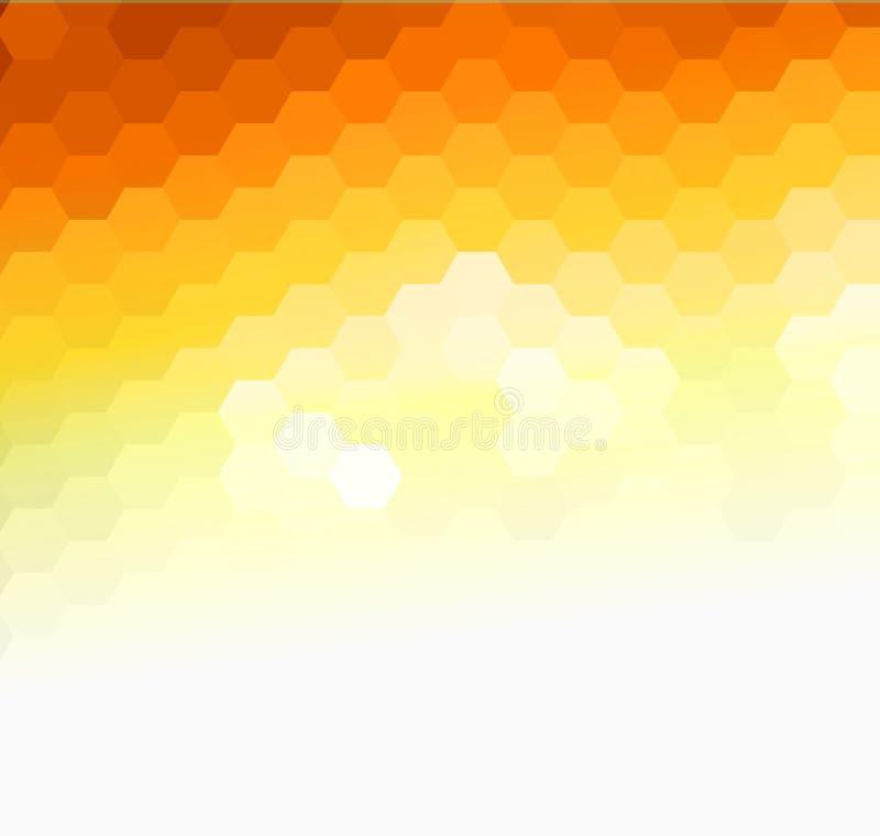 摘要橙色晴朗的背景,传染媒介马赛克设计 向量例证