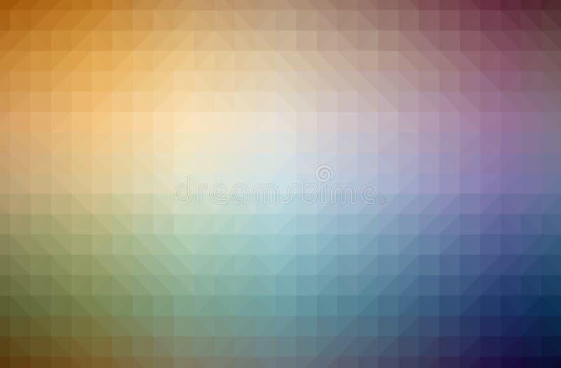 摘要橙色水平的低多背景的例证 美好的多角形设计样式 库存例证