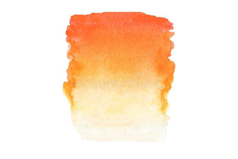 摘要水彩橙色梯度 免版税库存照片