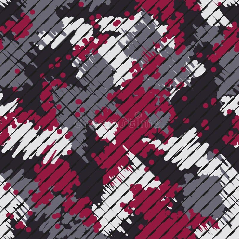 摘要现代几何数字纹理背景 不尽的镶边camo装饰品 r 库存例证