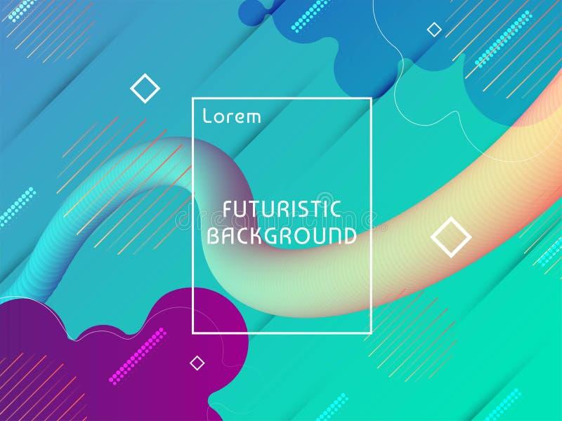 摘要现代未来派techno背景 库存例证