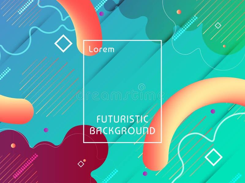 摘要现代未来派techno背景 向量例证