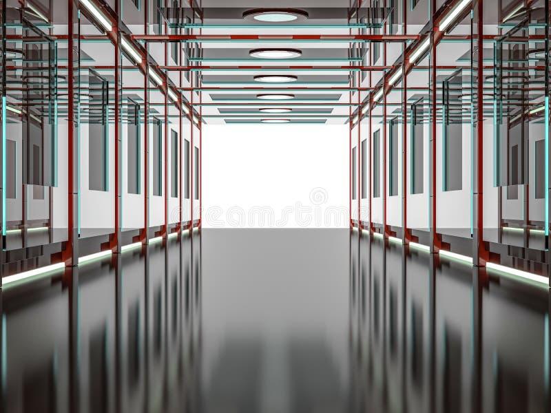 摘要现代红色建筑学背景 3d翻译 库存例证