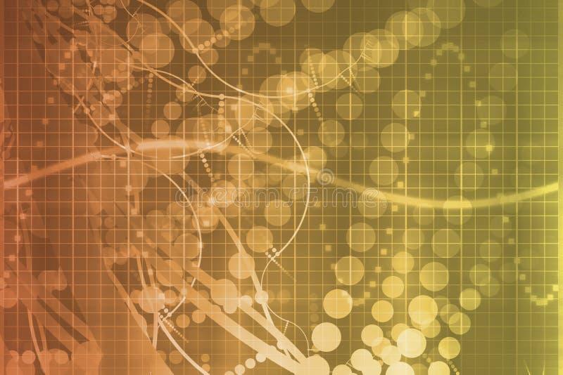 摘要的未来派医疗橙色科学技术 皇族释放例证