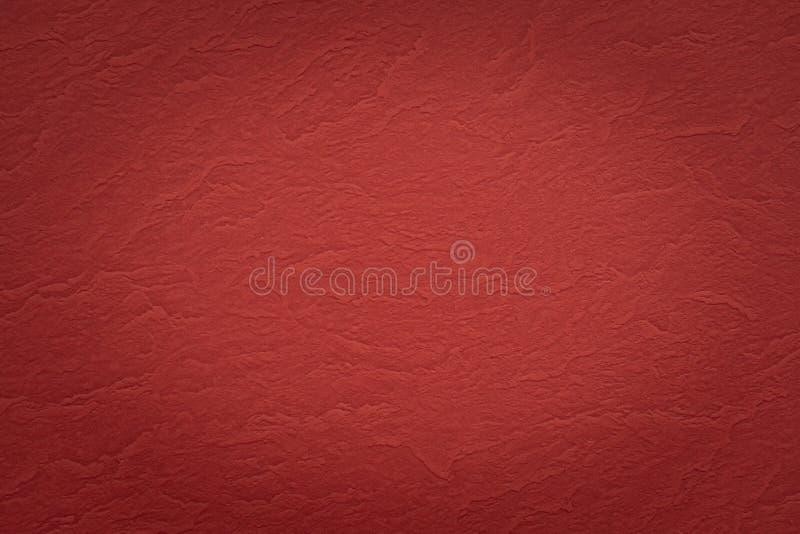 摘要红色起皱纹的纸纹理背景 免版税库存图片