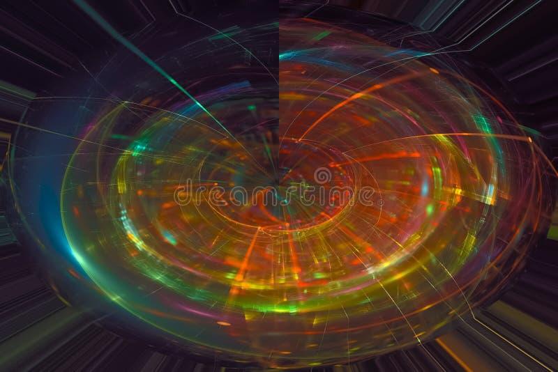 摘要纹理充满活力的混乱,爆炸幻想现代设计魔术动力学 库存例证