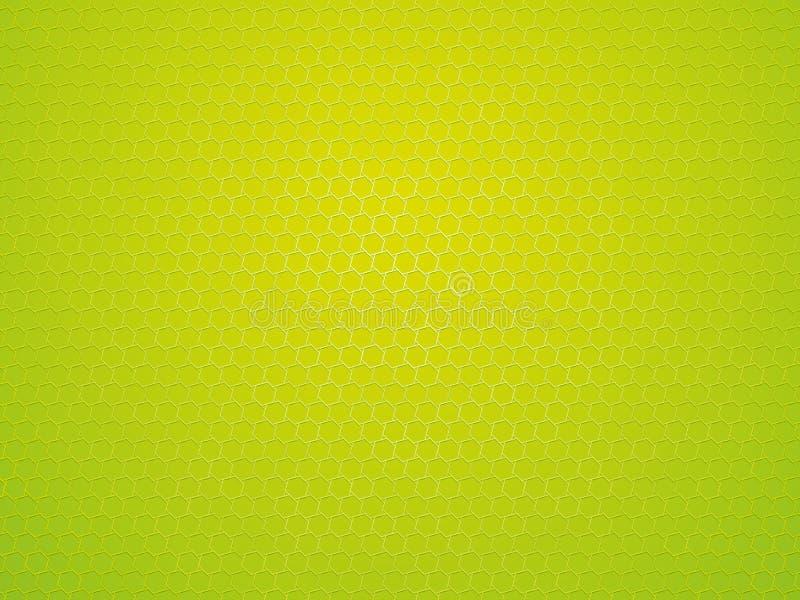 摘要绿色几何六角形背景 库存例证