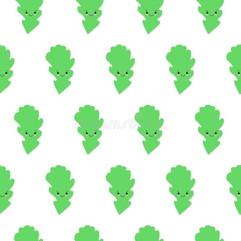 摘要绿色逗人喜爱的橡木离开背景 r 皇族释放例证