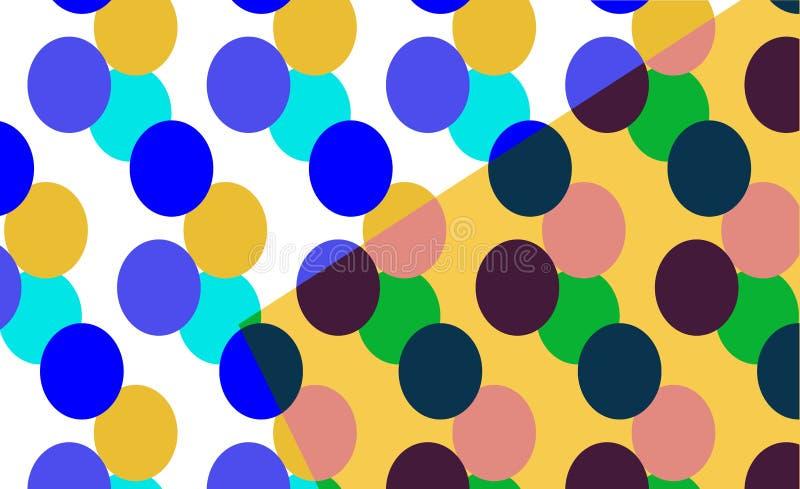 摘要背景五颜六色的圈子 库存例证