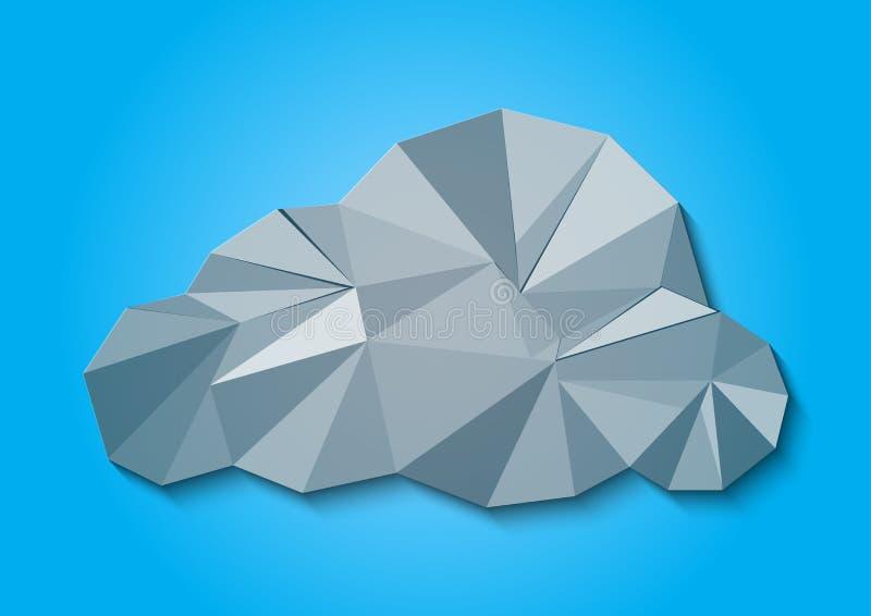 摘要背景美丽的多角形云彩,传染媒介例证 库存例证