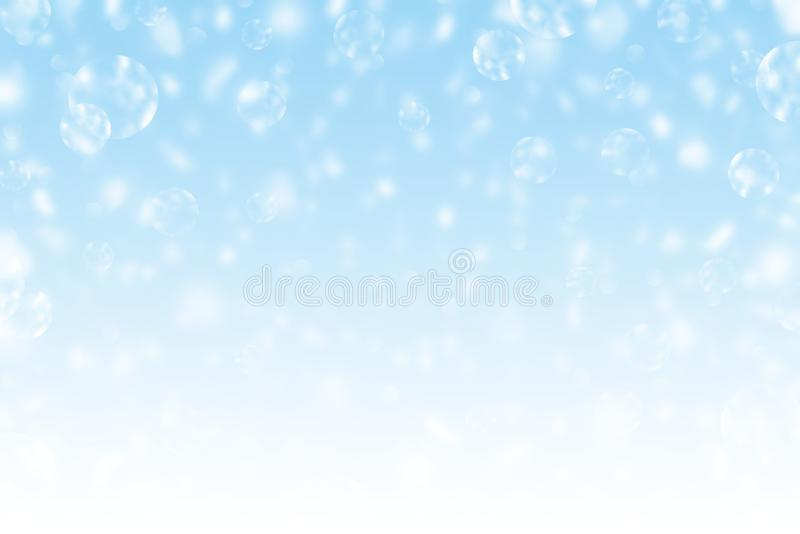 摘要背景Defocused斑点聪慧的颜色饱和度蓝色白太阳强光圣诞快乐和新年快乐 免版税库存照片