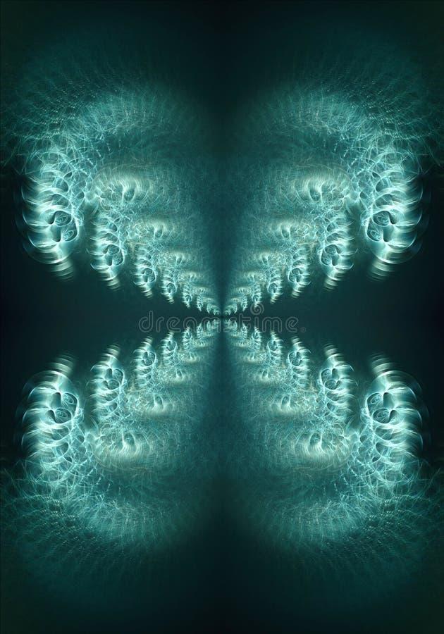 摘要艺术性的五颜六色的发光的计算机生成的光学光滑的弯曲的分数维背景 皇族释放例证
